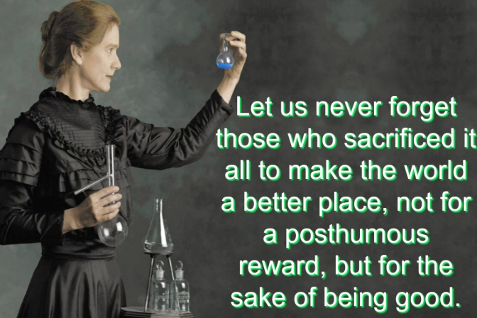 Atheists to Remember: Marie Curie